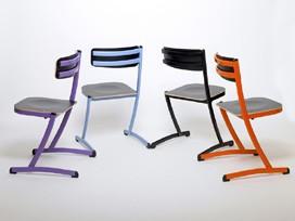 chaise scolaire design, jouez sur les couleurs pour une classe dynamique