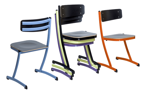 chaise empilable du mobilier scolaire 3.4.5