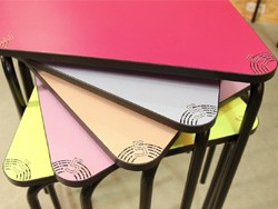 table scolaire empilable