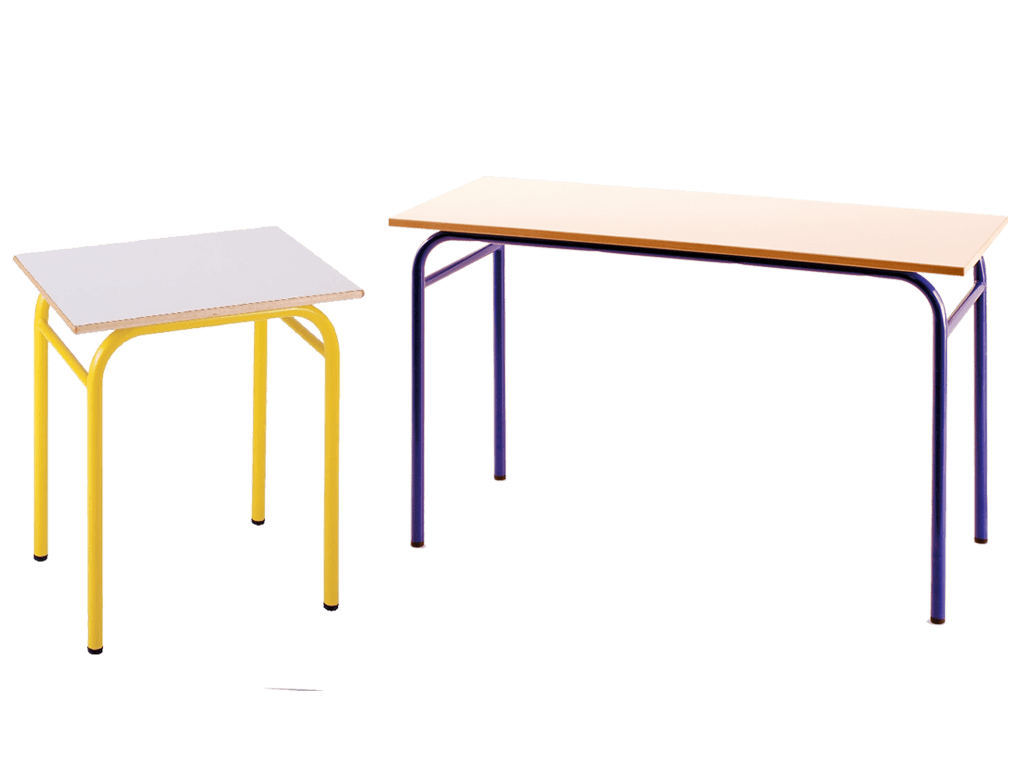 Table scolaire axis en strcuture tubulaire monobloc for Mobilier informatique scolaire
