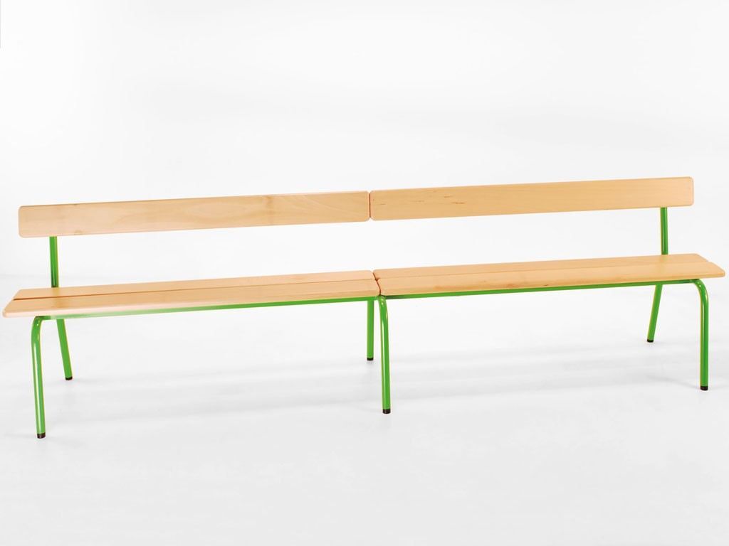 banc d 39 cole empilable avec ou sans dossier. Black Bedroom Furniture Sets. Home Design Ideas