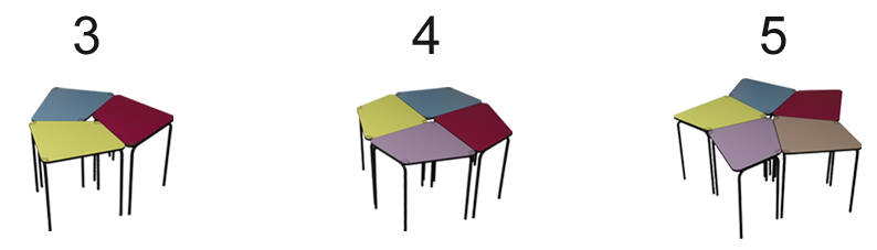 table modulable 3.4.5.
