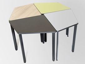 table pour espace collaboratif, table professionnelle et modulable