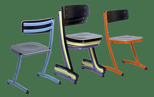 chaise empilable du mobilier scolaire 3.4.5