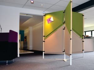 cloison acoustique de bureau, design et modulable