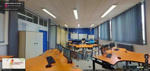 Equipement d'une salle de technologie du collège Godefroy de Bouillon
