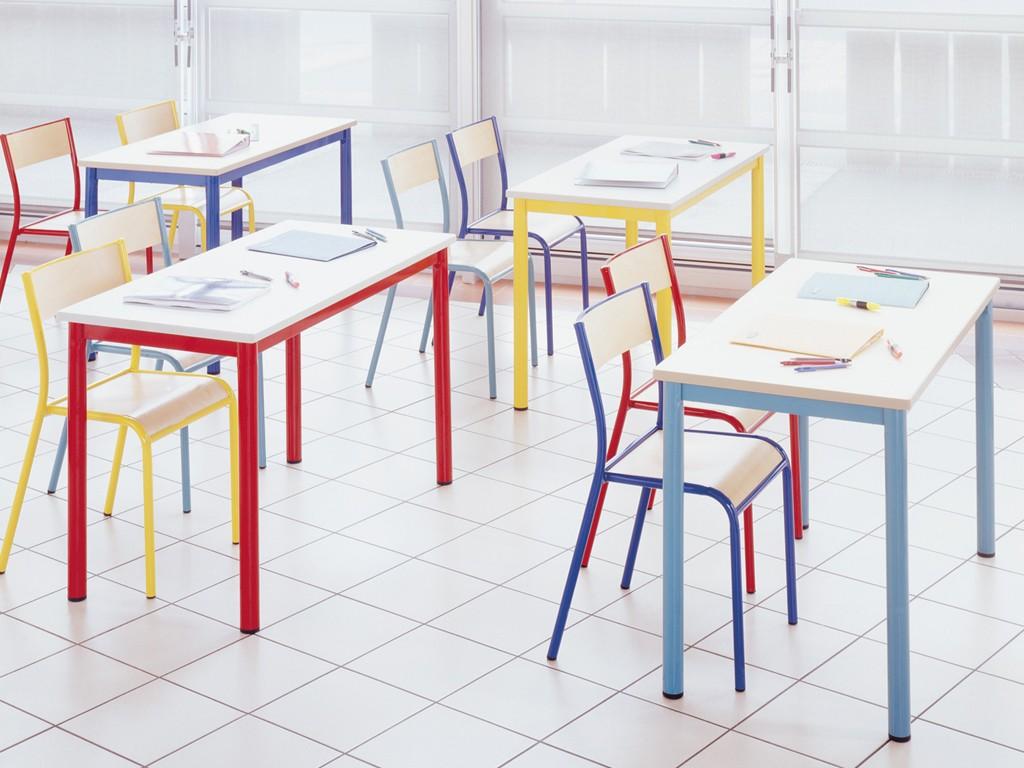 Une salle de classe colorée grâce à la table Norma