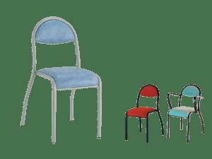 Chaise et fauteuil Aurelie, pour salle de réunion