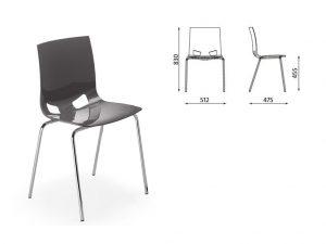 Dimensions de la chaise Fondo