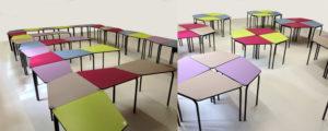 mobilier modulable, longévité et durabilité. Une table modulable pour milieu scolaire