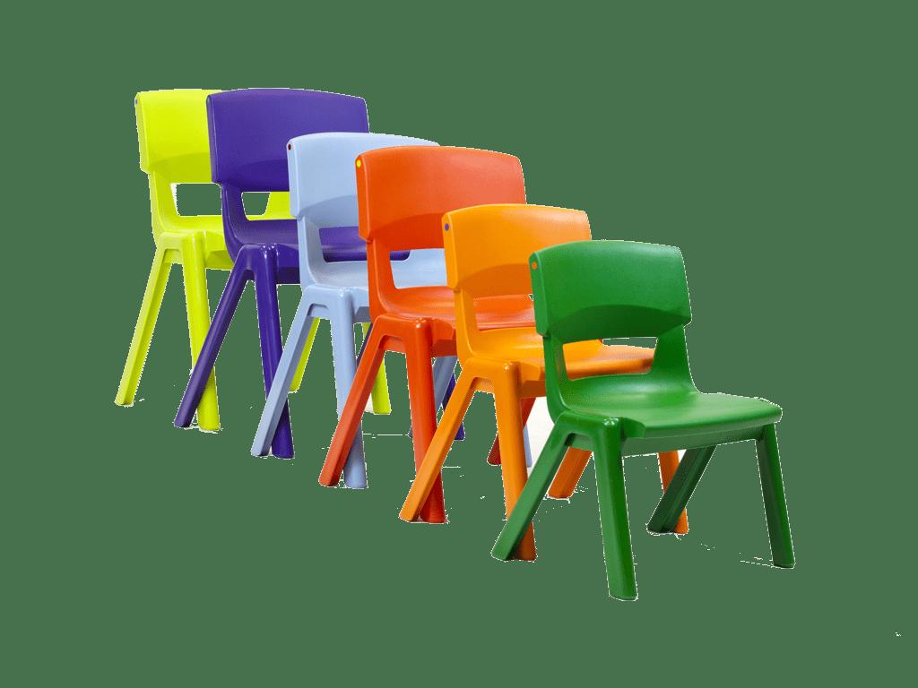 chaise de classe colorée