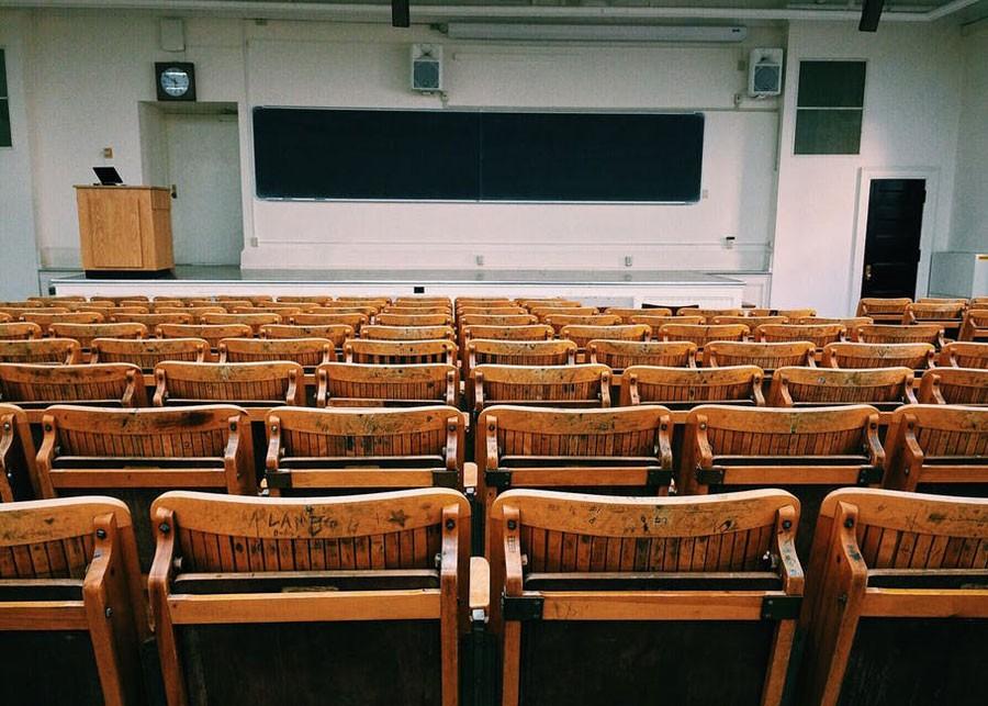 design d'espace dans salle d'enseignement