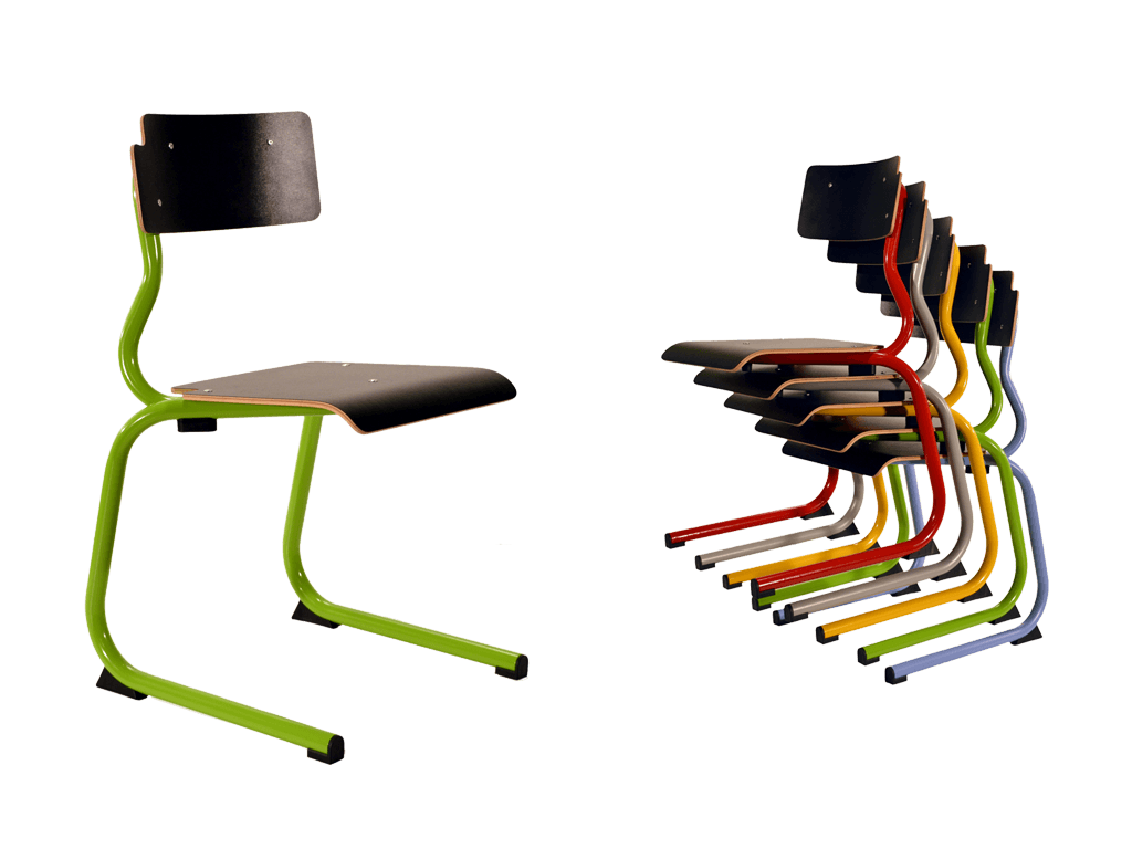 chaise scolaire en aluminium