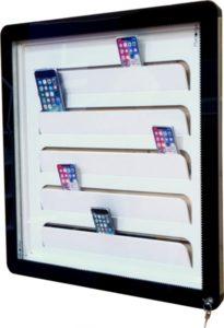 vitrine scolaire pour téléphone portable