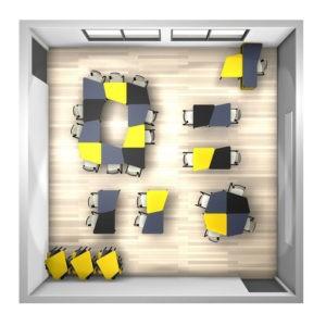 Table modulable multi activités, idéal pour un brainstorming