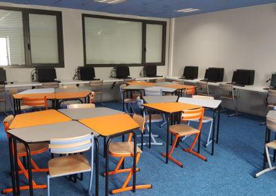 College St Joseph classe flexible Table 345 collège + Chaise 345 acier 2