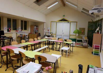 Ecole Mezieu classe flexible Table 345 primaire 2