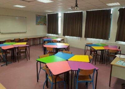Ecole Rosa Parks classe flexible Table 345 primaire 1