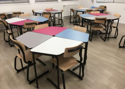 Ecole les Herbiers-Table 345 primaire + Chaise 345 aluminium