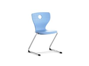 Chaise flexible Panto luge 2 pieds avec suspension élastique pour une assise ergonomique.
