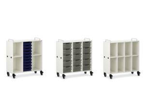 Armoire de stockage mobile pour salle de classe primaire ou maternelle