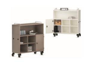 Armoires mobiles pour écoles, avec portes sécurisées