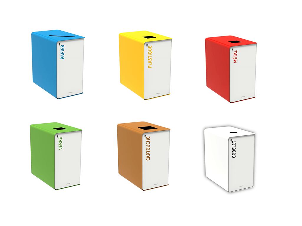 Borne de tri design CUBATRI par IA France