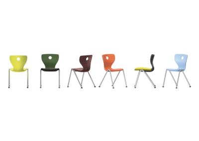 Chaise Compass 4 pieds disponible en 6 couleurs différentes pour une salle agréable