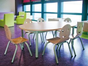 Chaise d'école empilable Toon, design et pratique