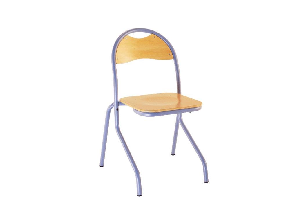 Chaise d'école Jade, une chaise 4 pieds en aluminium