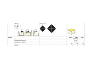 Dimensions de la table scolaire TriUnion