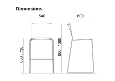 dimensions tabouret fila