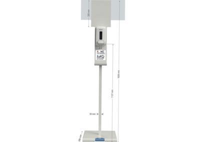 Distributeurs de gel hydralcoolique à pédale, pour éviter les contacts