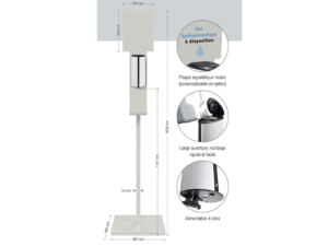 Distribution de gel hydroalcoolique automatique pou rune hygiène maximale.