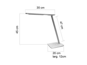Lampe design Jazz qui sert de chargeur de téléphone