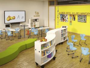 Mobilier modulable pour salle de classe flexible