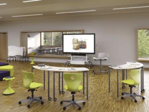 Pupitre d'enseignant VS Furniture, réglable en hauteur