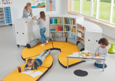 Le rayonnage mobile est un indispensable pour votre mobilier scolaire.