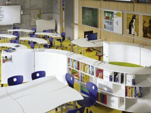 Le rayonnage mobile idéal pour une classe scolaire. IA France - VS Furniture