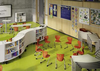 Salle de classe flexible, le mobilier devient modulable