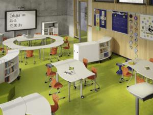 Salle de classe modulable qui s'adapte aux nouvelles pédagogies