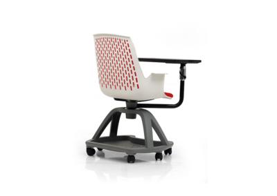 Siège dynamique IA France, une chaise sur roulette, avec tablette rabattable