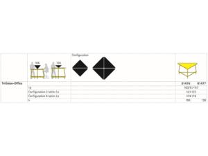 Table de bureau dynamique et modulable