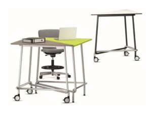 Table de bureau modulable, travail debout