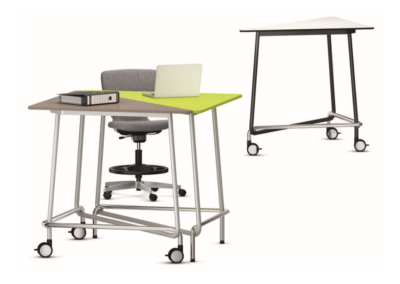 Table de bureau modulable, travail debout
