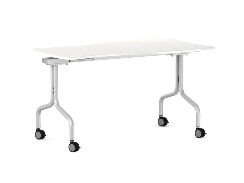Table flexible et pliante facilement avec 2 mains pour un rangement optimal