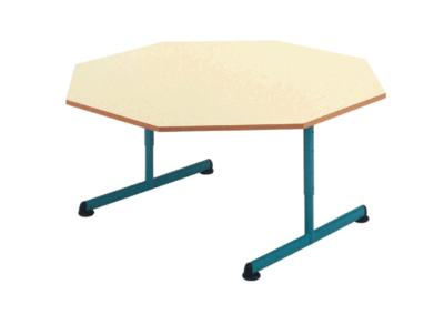 Table maternelle octogonale et réglable