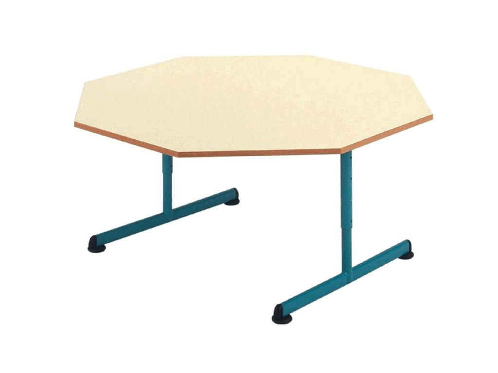 Table maternelle octogonale réglable distribuée par IA France