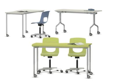 Table flexible et pliable pour établissement scolaire. IA France - VS Furniture