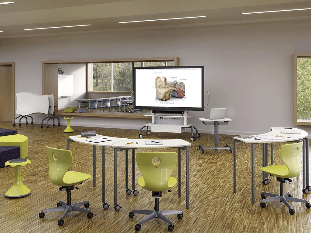 Table Shift flexible pour salle de réunion. IA France - VS Furniture